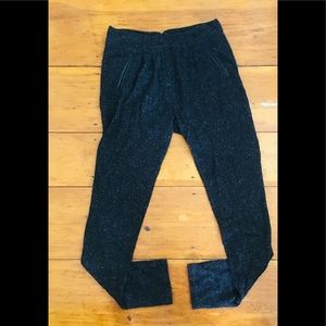 7 for all mankind tweed pleated skinny pants 28